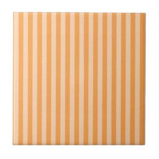 13 - Thin Stripes - Orange and Light Orange Tile