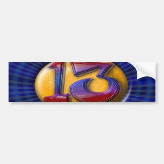 13 - Thirteen Bumper Sticker