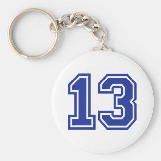 13 - Thirteen Keychain