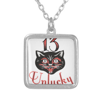 13 Unlucky Silver Plated Necklace