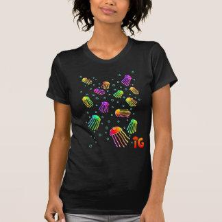 13 Vibrant Jellyfish - Womens (Black) T-Shirt