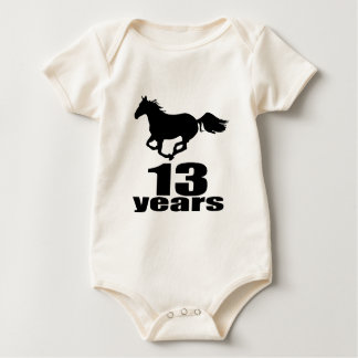 13 Years Birthday Designs Baby Bodysuit
