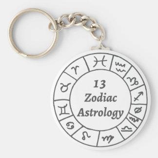 13 Zodiac Logo Key Chain