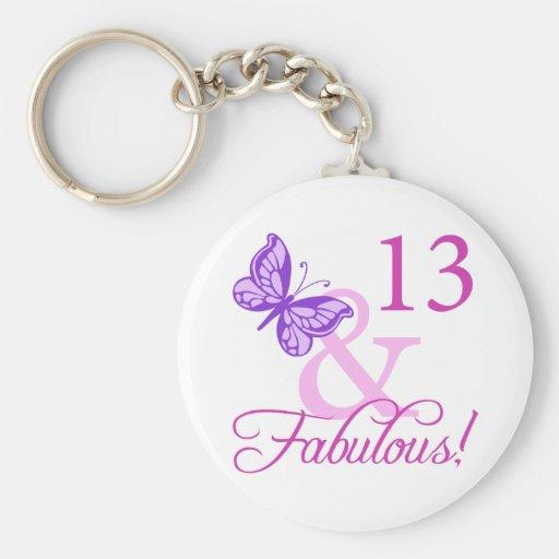 13ème anniversaire fabuleux porte-clefs