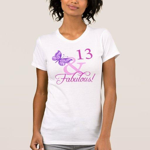 13ème anniversaire fabuleux t-shirts