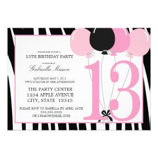 13ème invitation de fête d anniversaire 5x7