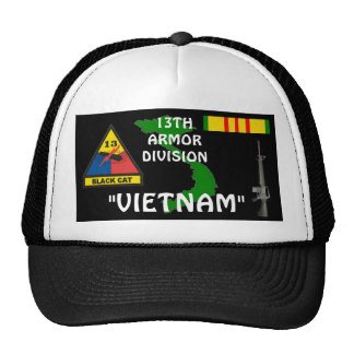 13TH Armor Division Vietnam Veteran Ball Caps Trucker Hat