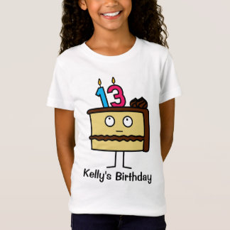 13th Birthday Cake with Candles T-Shirt