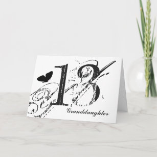 13th Birthday For A Granddaughter Butterfly Card