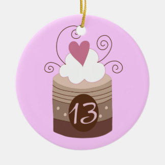 13th Birthday Gift Ideas For Her Round Ceramic Ornament