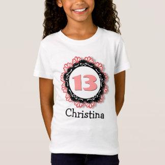 13th Birthday Girl One Year Big Number Name V66 T-Shirt