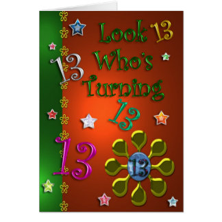 13th Birthday (Jewels) Card