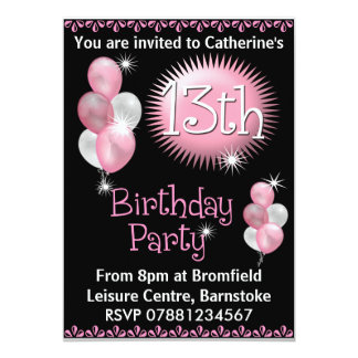 Invitations for 13th birthday party zrom 13th birthday party invitations announcements zazzle filmwisefo