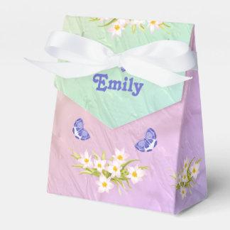 13th Birthday Party Rainbow Butterflies Favor Box