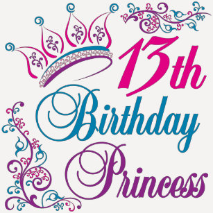 13th Birthday Princess T Shirt