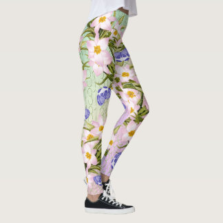 13th Birthday Rainbow Garden Butterflies Flowers Leggings