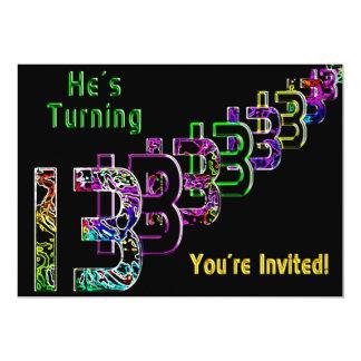 13th Birthday - Teen Invitation - Colorful