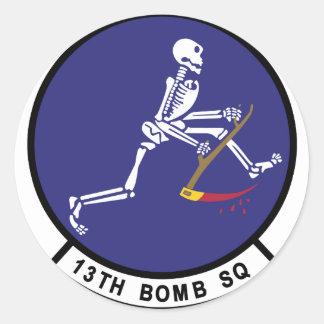 13th Bomb Squadron Classic Round Sticker