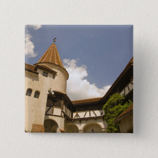 13th Century Bran Castle (Draculas' Castle), 2 Inch Square Button