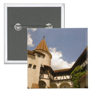 13th Century Bran Castle (Draculas' Castle), 2 Inch Square Button