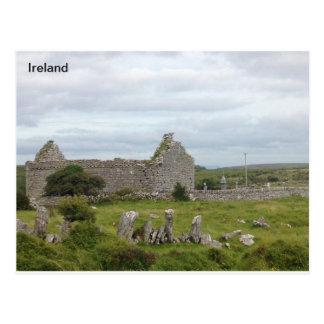 13th Century Church, Burren, Clare, Ireland Postcard