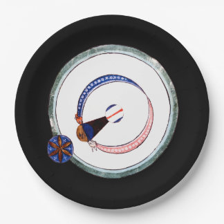 13th Century Solar Eclipse Paper Plate