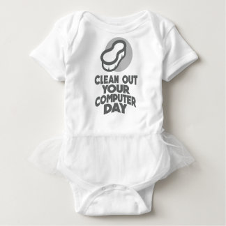 13th February - Clean Out Your Computer Day Baby Bodysuit