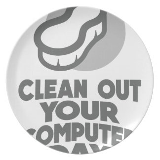 13th February - Clean Out Your Computer Day Dinner Plate