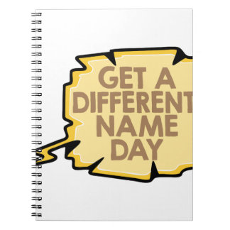 13th February - Get A Different Name Day Notebook