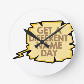 13th February - Get A Different Name Day Round Clock
