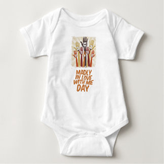13th February - Madly In Love With Me Day Baby Bodysuit