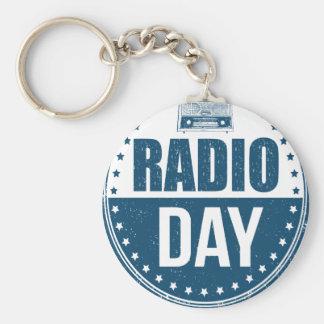13th February - Radio Day - Appreciation Day Basic Round Button Keychain