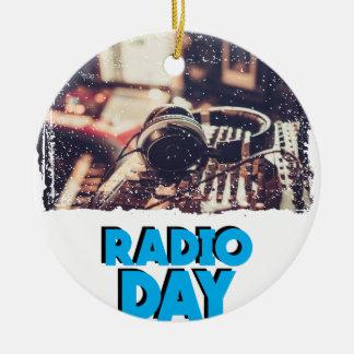 13th February - Radio Day - Appreciation Day Ceramic Ornament