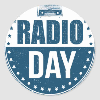 13th February - Radio Day - Appreciation Day Classic Round Sticker