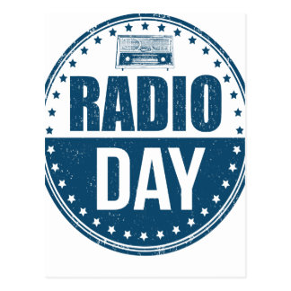 13th February - Radio Day - Appreciation Day Postcard