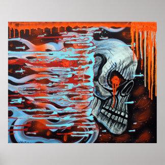 13TH Skull Poster