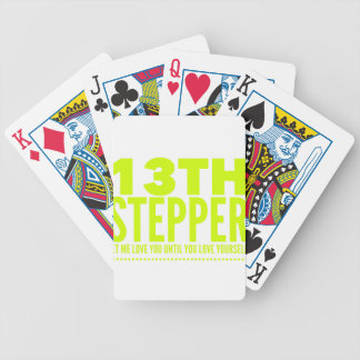 13th Step Sobriety Fellowship Recovery Bicycle Playing Cards