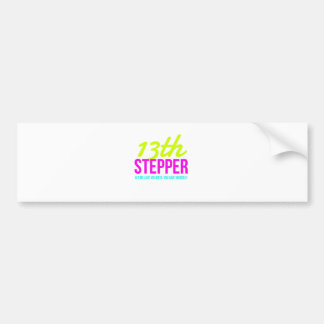 13th Step Sobriety Fellowship Recovery Bumper Sticker