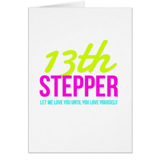 13th Step Sobriety Fellowship Recovery Card