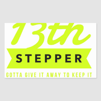 13th Step Sobriety Fellowship Recovery Sticker