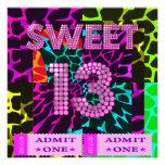 13th Sweet 13 Birthday Party Mixed Animal Print
