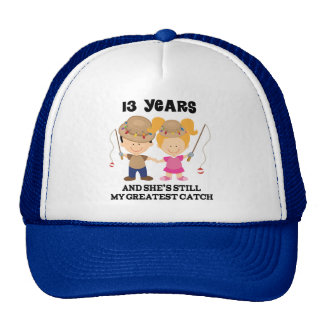13th Wedding Anniversary Gift For Him Mesh Hats