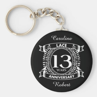 13TH wedding anniversary lace Keychain