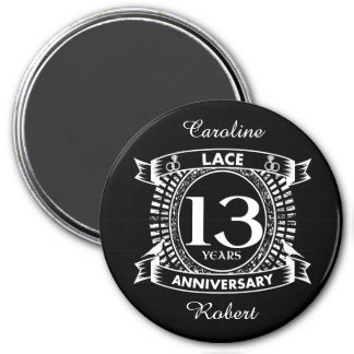 13TH wedding anniversary lace Magnet
