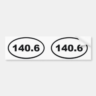 140.6 miles Triathlon Bumper Sticker