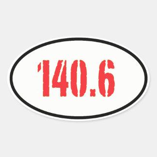140.6 OVAL STICKER