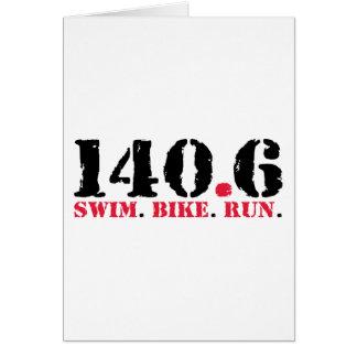 140.6 Swim Bike Run Card