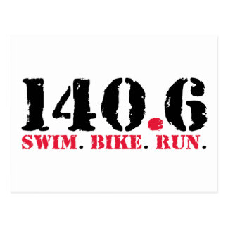 140.6 Swim Bike Run Postcard