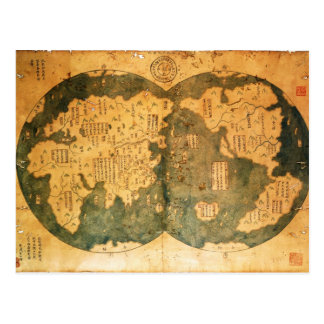 1418 Chinese World Map by Gavin Menzies Postcard