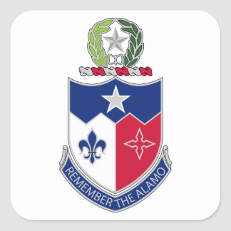 141st Infantry Regiment - Remember The Alamo Square Sticker